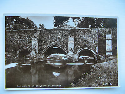 THE ABBOTS BRIDGE, BURY ST EDMUNDS -REAL PHOTO No. 223119 VALENTINES posted 1949
