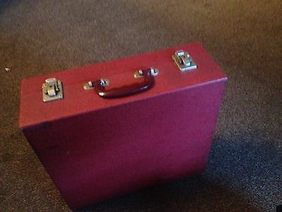 Vintage Cased Red Brexton Picnic  1950 / 1960's