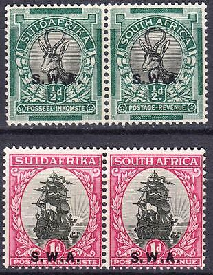 SW Africa 1930, SG 68 & 69, 1/2d & 1d, Mint Hinged