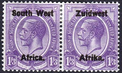 SW Africa 1923, SG 23, 1/3d Dull Violet, Mint Hinged, Cat £24