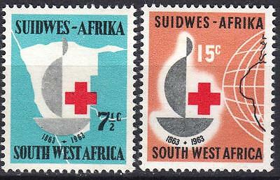 SW Africa 1963, Red Cross, SG 193 & 194, Mint Hinged