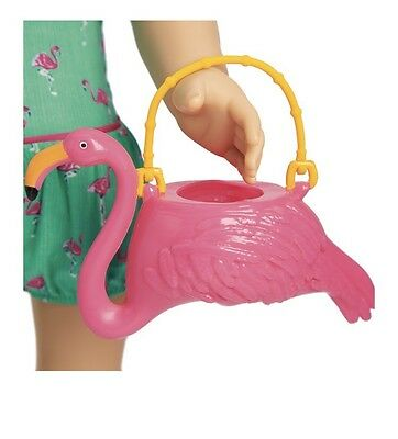 "American Girl 18"" Doll MARYELLEN Flamingo Swim Outfit Pink Purse ONLY"