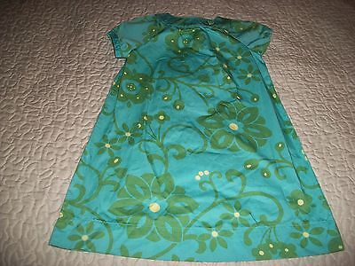 Baby Gap Turquoise/Green-floral print S/S Cotton Dress - Size 5T
