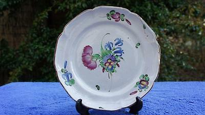 Good Antique Hand Painted French Faience 18thC Pottery Plate