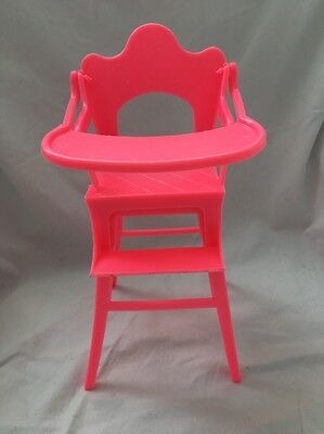 Vintage RELIABLE Canada Small Doll HIGHCHAIR High Chair Hot PINK Cute!