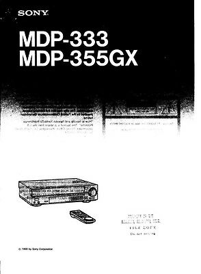 Sony MDP-355GX LD Player Owners Manual