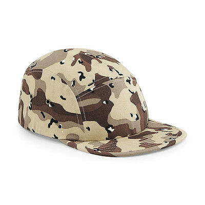 Beechfield B698 Camo 5 Panel Cap HAT UNISEX ADJUSTABLE 100% COTTON NEW WITH TAG