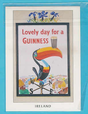 Guinness Stout Postcard Ireland Lovely day for a GUINNESS Toucan and pint  B26