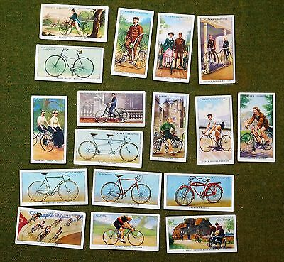 Cycling Cigarette Cards John Player & Sons  Set Of 17 From 50