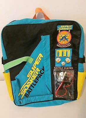 1992 Laramie Super Soaker Battlepack Backpack Colourful 90s *EUC*