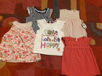 Little girl bundle of tops in size 1.5-2 years from Tu and George one new