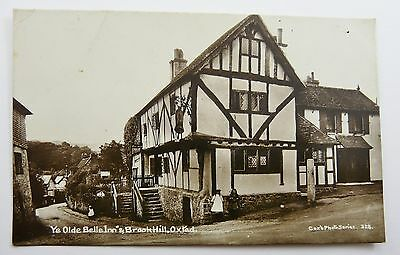 Vintage 1915 Rppc Of Ye Old Belle Inn & Brook Hill Oxted