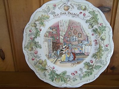 "Royal Doulton Brambly Hedge 8 "" Plate - Old Oak Palace"