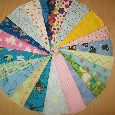 Set of 10 Assorted Cloth Baby Wipes - 8in.x8in.
