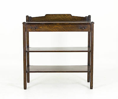 B434 Mission Tiger Oak 3 tiered Server, Stand, Sideboard, Hall Table