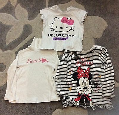 Girls Bundle Of 3 Tops Size 4-5 Years