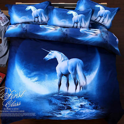 King Size  Galaxy Duvet Cover Bedding Set   Unicorn Moon Cosmos LIMITED look