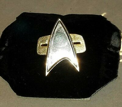 Star Trek TNG Voyager DS-9 COSplay Starfleet Badge Combadge Communicator Pin