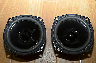 "Pair of 5.25"" long throw bass/mid speaker drive units (similar to B110 fit)"
