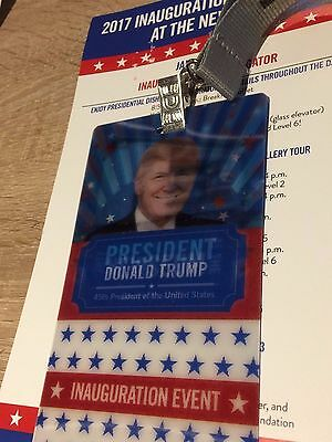 Donald Trump-President Inauguration Event- Hologram Pass And Lanyard-Look!