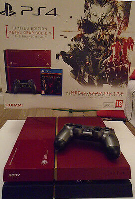Ps4 Console 500 Gb Red Metal Gear Limited Edition Version