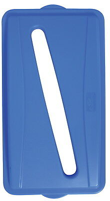 Continental Wall Hugger Recycle Lid with Slot, Blue