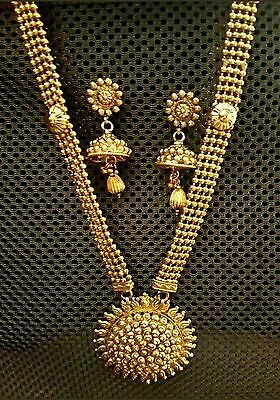 Gold Plated Indian Jewellery Necklace & Earrings