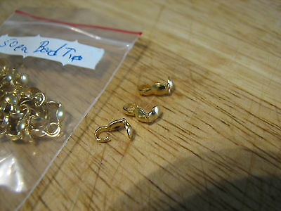 Gold Color Bead Tips Foldover Style End Of Lot Spring Clearance Liquidation Sale