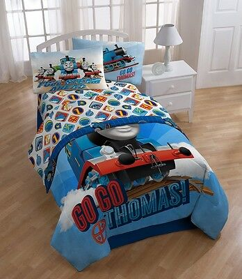 Thomas the Train Bedding Sheet Set, Twin Size, Kids Toddler Bed Sheets Pillow