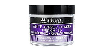 Mia Secret Professional Acrylic Nail System White Acrylic Powder 2 oz 3D