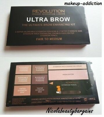 makeup revolution ultra brow palette HD BROWS PALETTE BROW KIT FAIR / MED