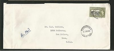 H175) Trinidad 1953 Cover Rated 24 Cents From Tuna Puna