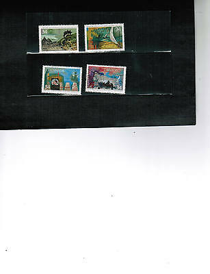 CANADA  1986 set of 4   # 1107a EXPLORATION  USED  LOT 451