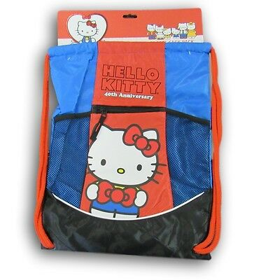 Hello Kitty 40th Anniversary Sports Sack, Backpack, Bag, Pack NEW $4.99
