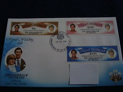 Grenadines Of St Vincent - Royal Wedding 1981 First Day Cover