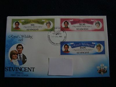 St Vincent - Royal Wedding 1981 First Day Cover