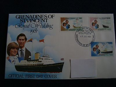 Grenadines Of St Vincent (Britannia) - Royal Wedding 1981 First Day Cover