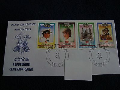 Republique Centrafricaine  - Royal Wedding 1981 First Day Cover