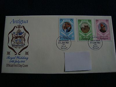 Antigua - Royal Wedding 1981 First Day Cover