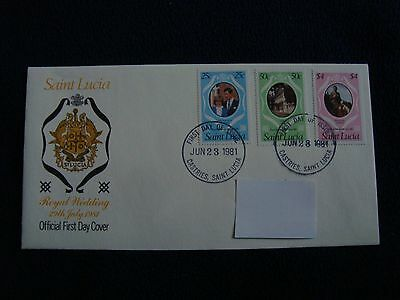 Saint Lucia - Royal Wedding 1981 First Day Cover
