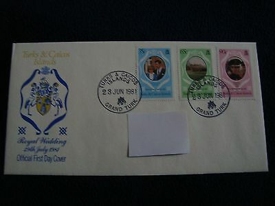 Turks And Caicos Islands - Royal Wedding 1981 First Day Cover