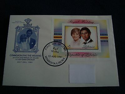 Republic Of Liberia - Royal Wedding 1981 Large First Day Cover