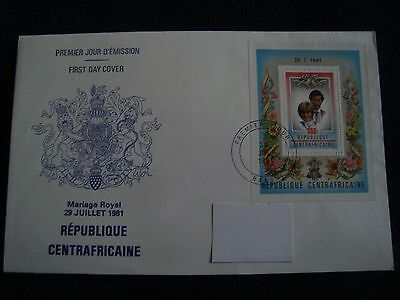 Republique Centrafricaine  - Royal Wedding 1981 Large First Day Cover