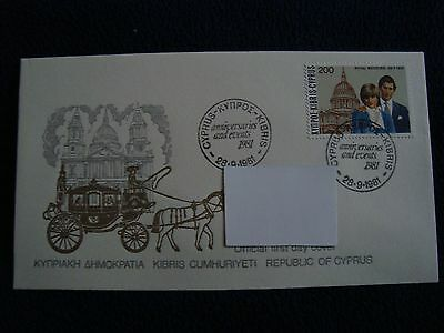 Republic Of Cyprus - Royal Wedding 1981 First Day Cover