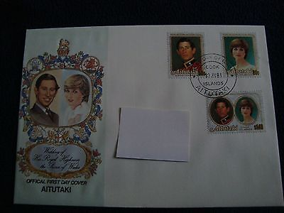 Aitutaki (Cook Islands) - Royal Wedding 1981 First Day Cover