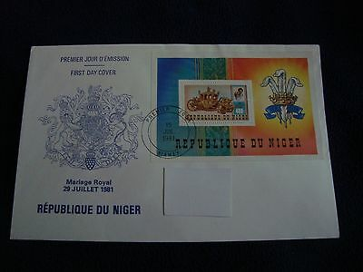 Republique Du Niger  - Royal Wedding 1981 Large First Day Cover