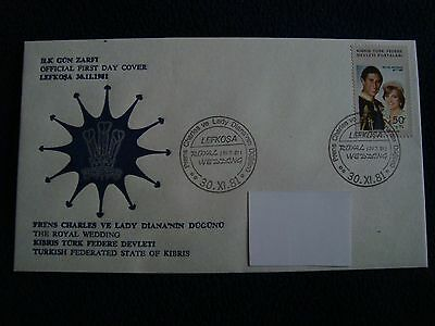 Turkish Federated State Of Kibris - Royal Wedding 1981 First Day Cover