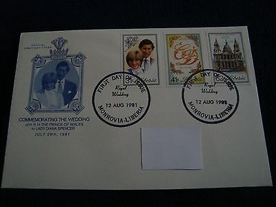 Liberia - Royal Wedding 1981 First Day Cover