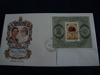 Sierra Leone - Royal Wedding 1981 Large First Day Cover