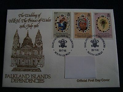 Falkland Islands Dependencies - Royal Wedding 1981 First Day Cover